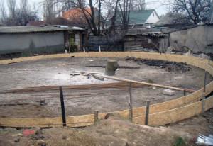 Опалубка бетонного основания