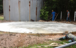 Сплошное бетонное основание