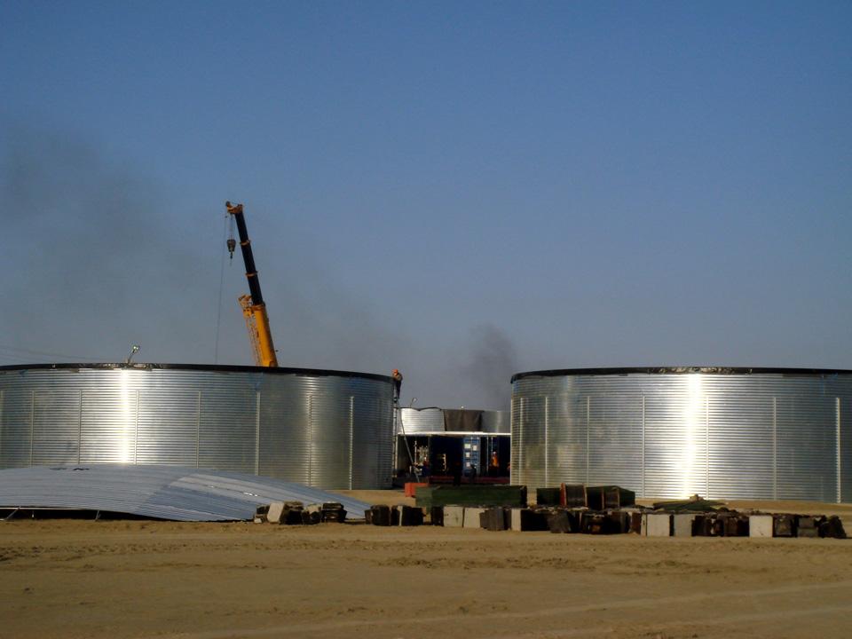 Емкости 1500 м³ и 2000 м³