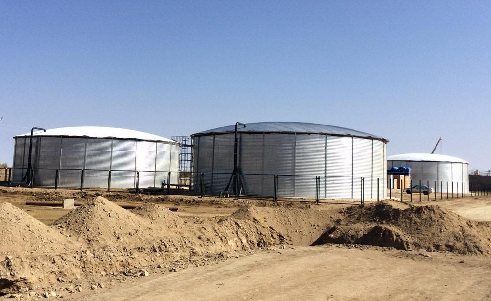 Емкости общим объемом 7000 м³